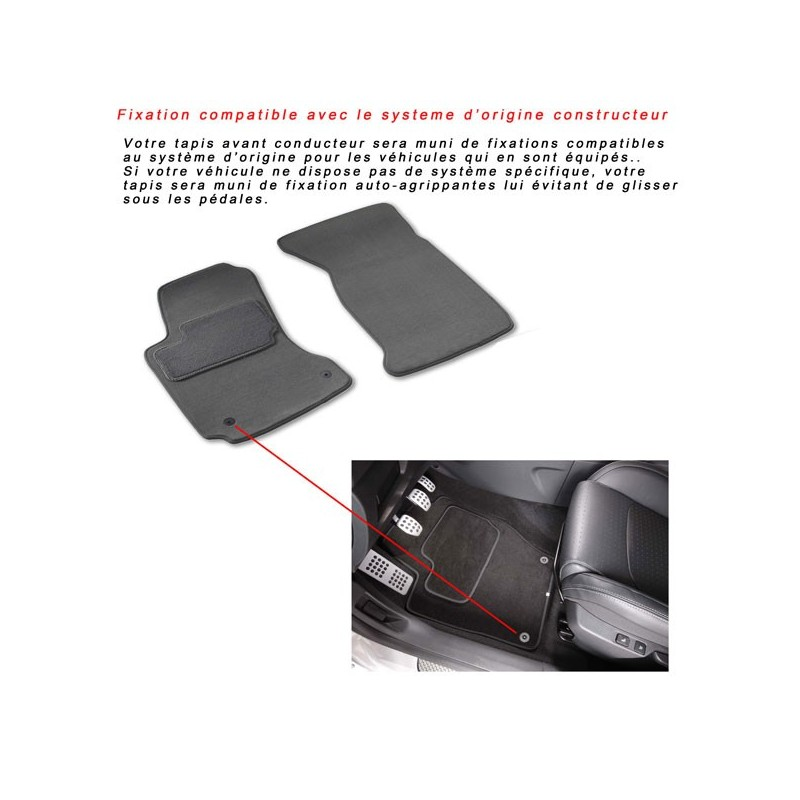 tapis de sol moquette sur mesure voiture peugeot 3008. Black Bedroom Furniture Sets. Home Design Ideas