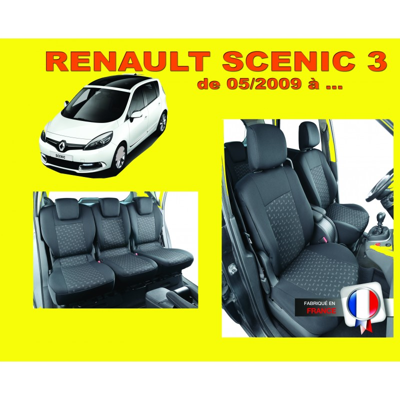 housse de si ge auto pour voiture renault scenic 3. Black Bedroom Furniture Sets. Home Design Ideas