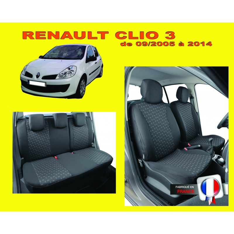 housse de si ge auto sur mesure privil ge pour voiture renault clio 3. Black Bedroom Furniture Sets. Home Design Ideas
