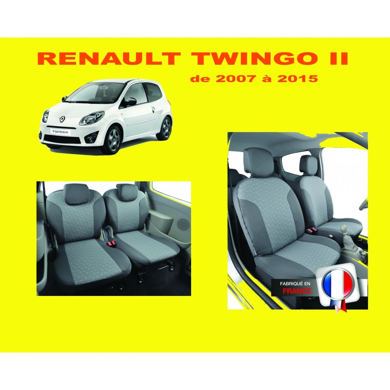 housse de siege auto sur mesure renault twingo 2. Black Bedroom Furniture Sets. Home Design Ideas
